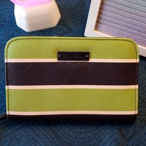 Striped Vera Bradly Canvas Coated Wallet